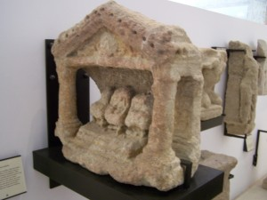 "This altar depicts ""Gallo-Roman"" mother goddesses - Museum of Vaison-la-Romaine"