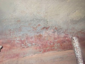 Cave art from the Domboshowa caves in Zimbabwe
