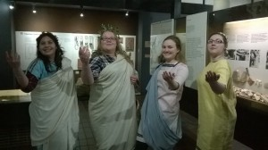 The Roman dress exhibit was, as you can see, rather popular!