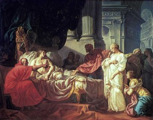 Jacques-Louis David, Antiochus and Stratonica, 1774.
