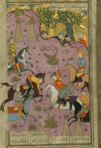 Ardashir Recognizes his Son Shapur During a Polo Game, Walters manuscript W.602.