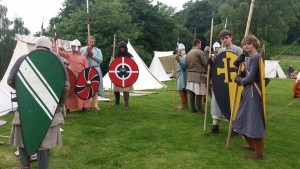 Lewis (Centre) and other Welsh tribesmen. Photo courtesy of Dave Pilling.